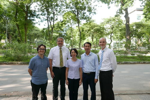 Project coordinator Dr. Esteban Mejia, Prof. Udo Kragl, Prof. Le Minh Thang, Prof. Le thang Son and Dr. Dirk Hollmann
