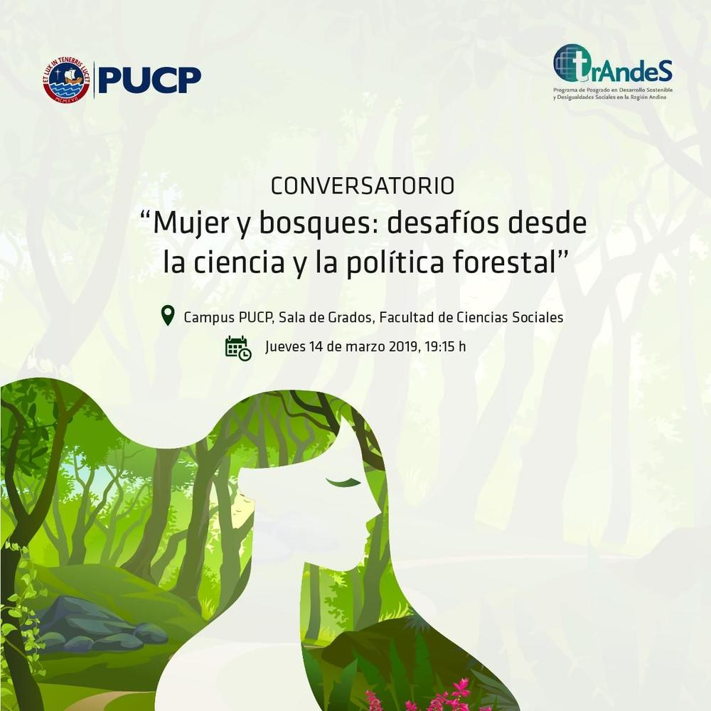 Mujer y bosques